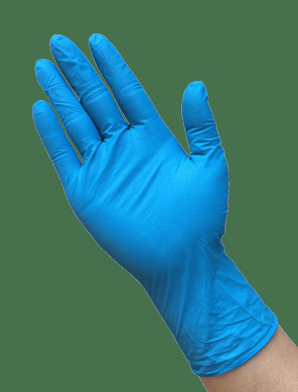 Blue Disposable Nitrile Gloves